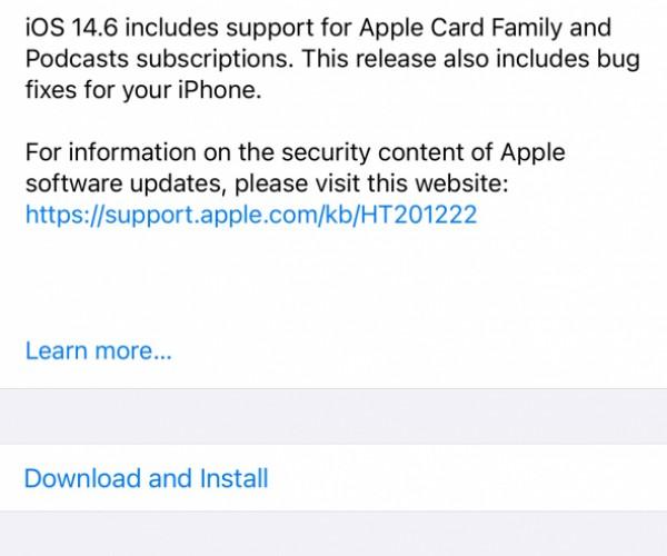 نسخه نهایی iOS 14.6 و iPadOS 14.6 عرضه شد
