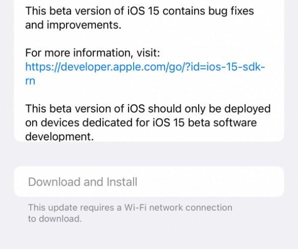 نسخه بتا ۳ از iOS 15 و iPadOS 15 عرضه شد